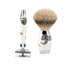 MÜHLE Silver Tip Badger Safety Razor Set  Edition Meissen