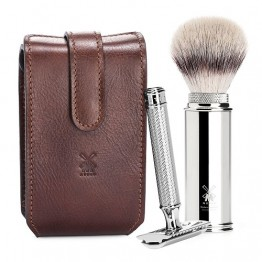 MÜHLE 4-piece Luxurious  Travel Shaving Set