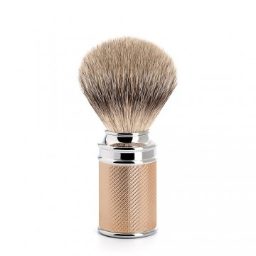 Shaving brush from MÜHLE  With  Chrome-Rose Gold Plated Metal