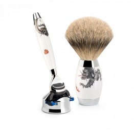 MÜHLE Shaving Set Silvertip Badger and Gillette Fusion Edition Meissen
