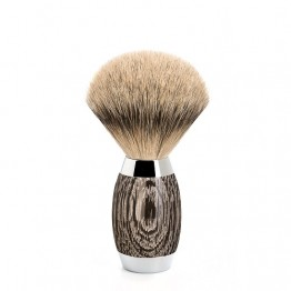 Oak and Sterling Silver Shaving Brush