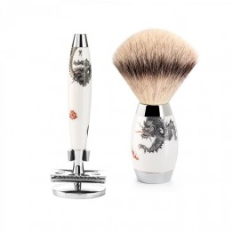 MÜHLE 3-Piece Silvertip Fibre Safety Razor Set Edition Meissen
